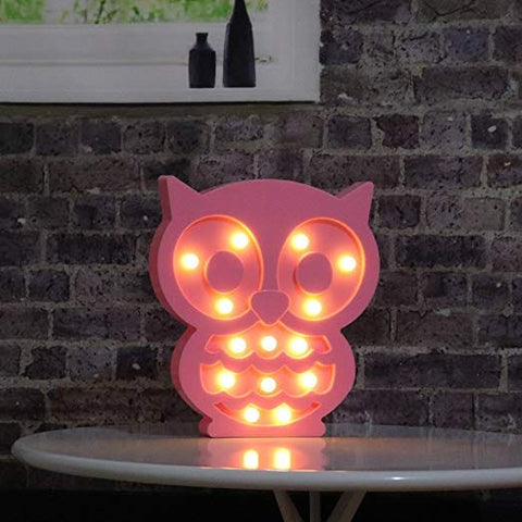 Owl Night Light (Pink or White)