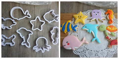 Sea Life Cookie / Sandwich Cutters - Set of 8