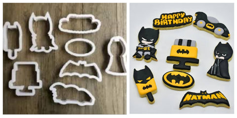 Batman Cookie / Sandwich Cutters - Set of 8