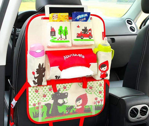 Red Little Red Hiding Hood Car Seat Organizer