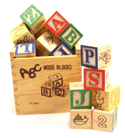 Alphabet Blocks 27 piece