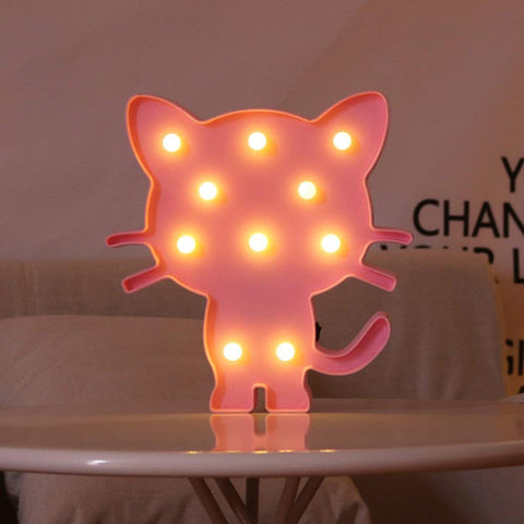 Cat Night Light (Pink or White)