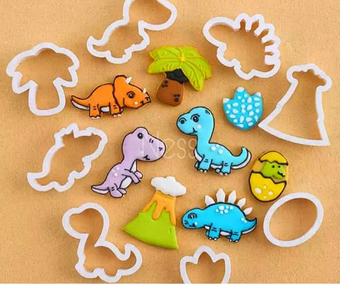 Dinosaur Cookie / Sandwich Cutters - Set of 8