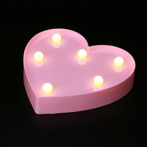 Heart Night Light (Pink or White)