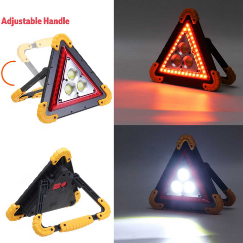 Emergency Warning Triangle Light - Solar & USB Charging