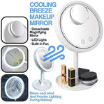 Magnifying Mirror with LED and Fan