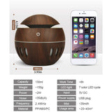 130ml Wooden Ball Humidifier - Pattern