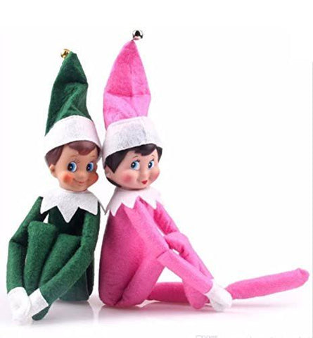 Elf On The Shelf - Green Boy and Pink Girl Combo