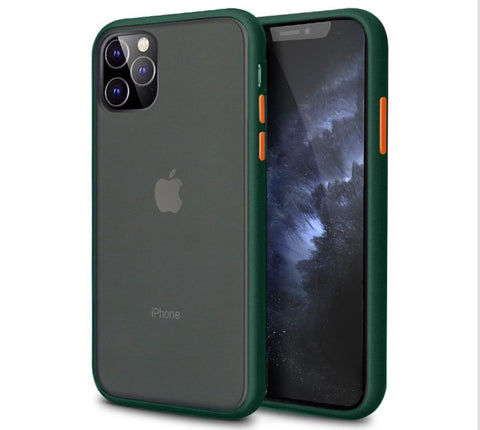 iPhone 11 Pro Shockproof Anti-Fingerprint Case - Accent Colours - Midnight Green