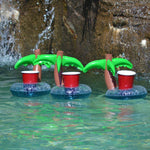 Palm Tree Floating Drink Holder - Set of 4