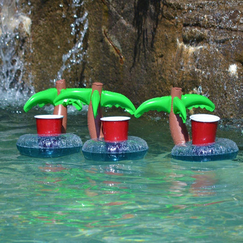Palm Tree Floating Drink Holder