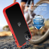 iPhone 11 Pro Shockproof Anti-Fingerprint Case - Accent Colours - Red