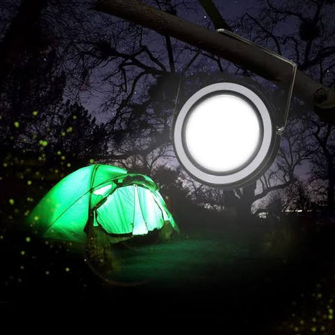 Solar Powered Portable Camping Lights - Round