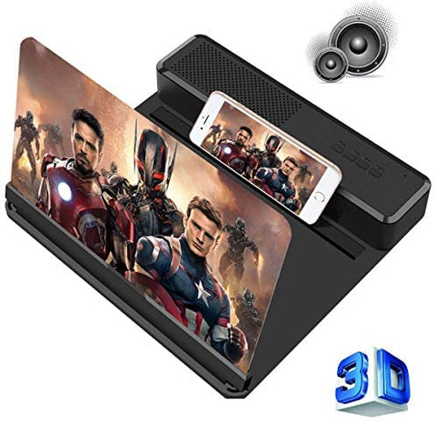 Portable 6D Mobile Screen Amplifier with Speaker