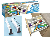 Snap Fit Drawer Dividers - Set of 2