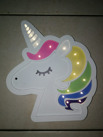 Rainbow Unicorn Head Night Light