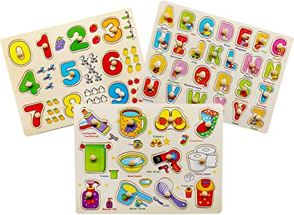 Peg Puzzles - Set of Random 6