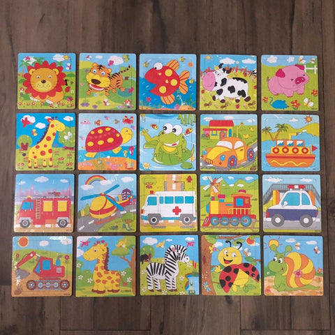 9pc Puzzle - Set of 4