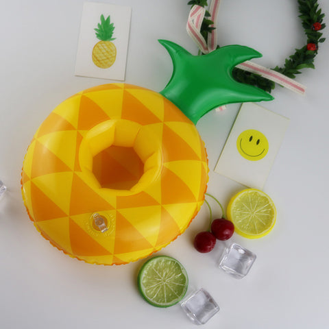 Pineapple Floating Drink Holder - Set of 4