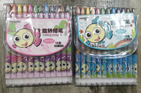 Cartoon Retractable Crayons