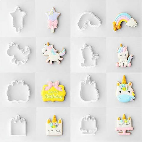 Unicorn Cookie / Sandwich Cutters - Set of 8