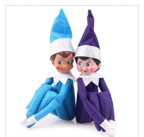 Elf On The Shelf - Blue Boy and Purple Girl Combo