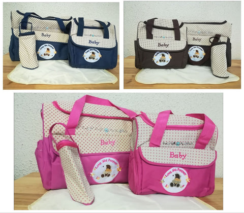 4pc Nappy Bag Set
