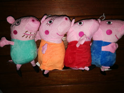 Pig Family of 4 20cm Soft Toys