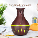 Wooden Vase Humidifier - Patterned - 300ml