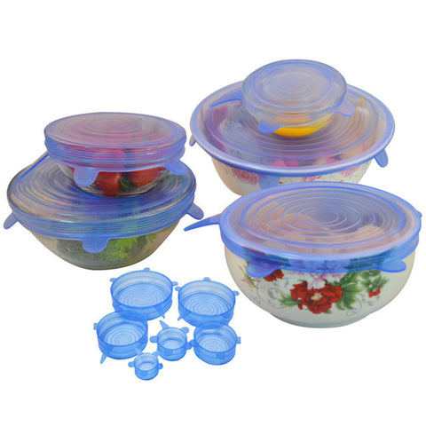 Silicon Stretch Lids - Set of 6