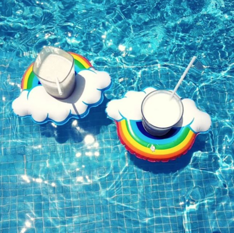 Rainbow Floating Drink Holder - Set of 4