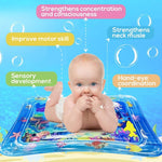 Water Tummy Time Mat - BLUE
