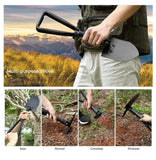 3 Function Folding Camping Shovel