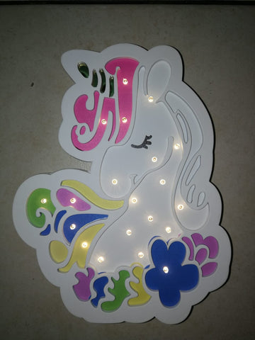 Unicorn Head Night Light