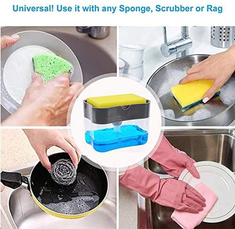 2in1 Soap Dispenser and Sponge Caddy