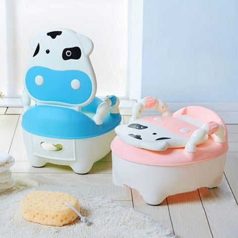 Cow Potty Chair - Pink / Blue