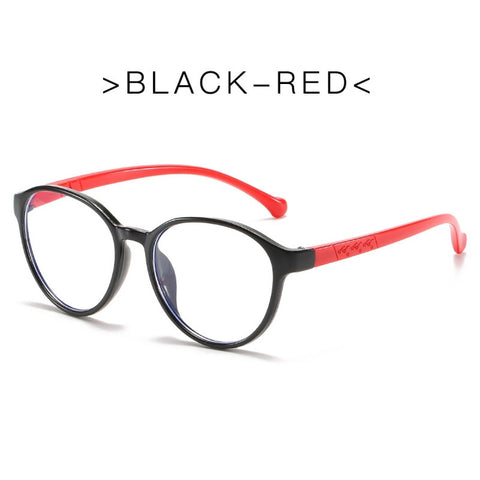 Blue Ray Glasses - UV Protection - Black / Red