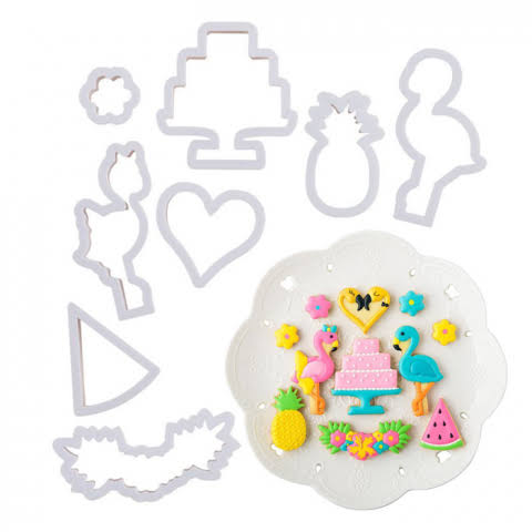 Flamingo Cookie / Sandwich Cutters - Set of 8