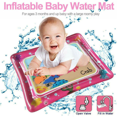 Water Tummy Time Mat - PINK