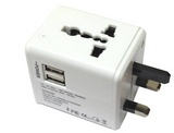 Universal Travel Adapter (With 2 USB Port)