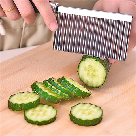 Wavy Crinkle-Cut Vegetable Kitchen Knife