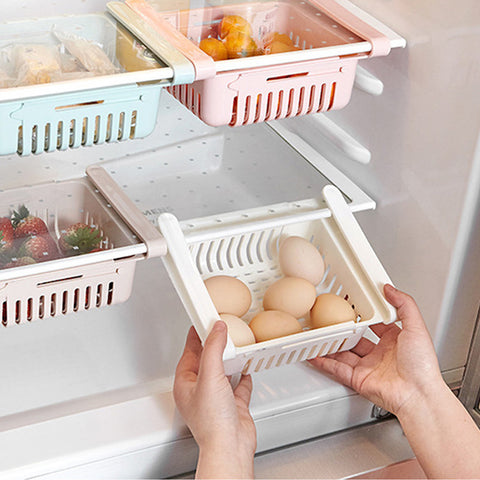 Refrigerator and Kitchen Shelf Organizer