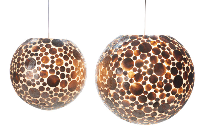 Ball Hanging Lamp Schelpen Goud
