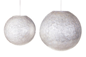 Ball Hanging Lamp Schelpen Wit Design