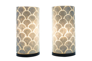 Cilinder Lamp Schelpen Wit Design
