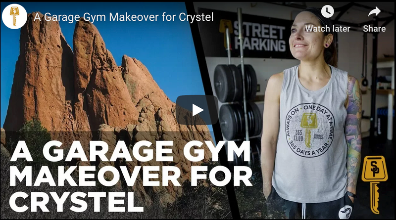 A Garage Gym Makeover for Crystel