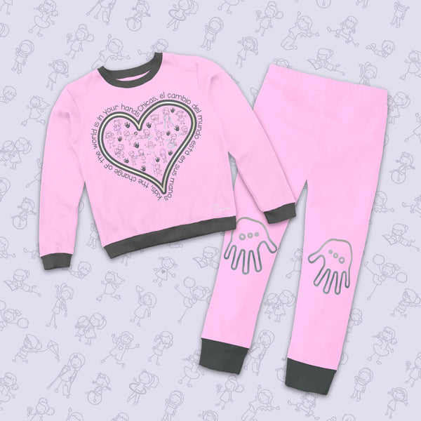 Pijama Corazón Niña - Million Hands 2 Pack