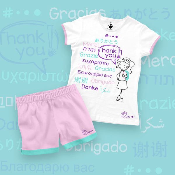 Pijama Gracias Niña- Million Hands 2 Pack