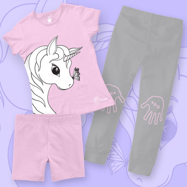 Pijama Unicornio Niña - Million Hands 3 Pack
