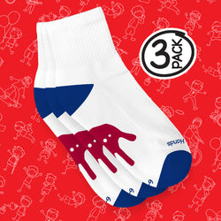 Calcetines Red Hands (tobillero) Algodón Ultra-Suave 3 Pack